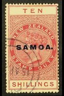 1925 - 28  10s Brown Red Postal Fiscal, SG 166c, Very Fine Used. For More Images, Please Visit Http://www.sandafayre.com - Samoa