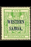 """1941 - 2  5s Green Arms, Wmk """"single NZ And Star"""", On Wiggins Paper, SG 194a, Fine Mint. For More Images, Please Visit  - Samoa"""
