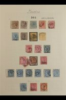 MAURITIUS USED IN SEYCHELLES COLLECTION CAT £1870+  A Valuable Old Time Collection Written Up On A Page, Each Displaying - Seychelles (...-1976)