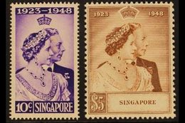 1948  Royal Silver Wedding Set Complete, SG 31/32, Never Hinged Mint (2 Stamps) For More Images, Please Visit Http://www - Singapur (...-1959)