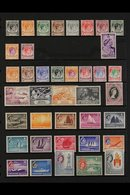 1948-1984 MINT & NHM COLLECTION  An Attractive Collection That Includes KGVI Definitives To P17½ X 18 40c, $1 & $2, 1955 - Singapur (...-1959)