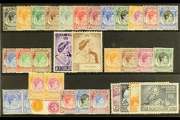 1948-49 MINT / NHM COLLECTION  A Stock Card Bearing The 1948 Perf 14 Complete Set Very Fine Mint, Perf 17½ X 18 Range To - Singapur (...-1959)