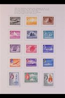 1953-1971 COMPREHENSIVE VERY FINE MINT COLLECTION  On Pages, ALL DIFFERENT, Includes 1955-59 Set, 1959 Constitution Set, - Singapur (...-1959)