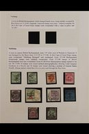 MAFEKING SIEGE  COLLECTION Of Very Fine Used Includes The 1900 (23 Mar-28 Apr) Surcharges With 1d On ½d Green (2) SG 1 & - África Del Sur (...-1961)