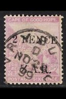 """VRYBURG  1899 """"2 PENCE Z.A.R."""" On 6d Mauve (surcharged COGH), SG 3, Fine Used For More Images, Please Visit Http://www.s - África Del Sur (...-1961)"""