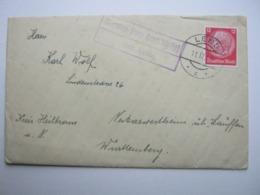 1940 , DIENTEN  über Lend , Klarer Landpost- Stempel Auf Brief - Briefe U. Dokumente