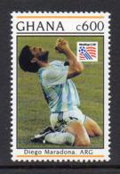 Ghana 1515 Mondial USA 94 , Diego Maradona , Argentine, Cocaïne - Football