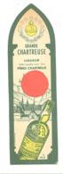 """Marque-pages Publicitaire  -  """" Grande Chartreuse """"  Liqueur, Verte Et Jaune, Alcool, Digestif,... 1952   (b260/4) - Segnalibri"""