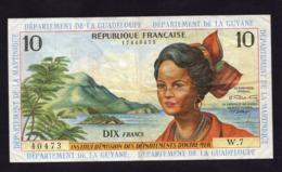 Guadeloupe - 10 Francs- Beau TTB - Pick 8 - 1964 - Andere