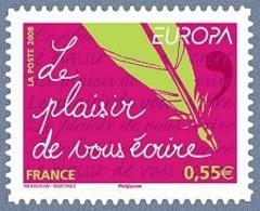 Europa L'écriture D'une Lettre N° 207 - Adhésifs (autocollants)