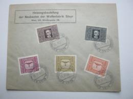 1922 , Wien - Händlertag , Klarer Sonderstempel Auf Brief - Briefe U. Dokumente
