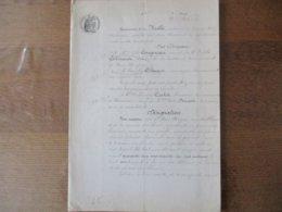 16 DECEMBRE 1899 VENTE PAR ZELIE COUGNEAU Vve COLMANT ET LEOPOLD COLMANT A HON HERGIES A PHILEMON CARLOT BRASSEUR A HOUD - Manuskripte