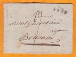 1806 - Marque Postale 92 GAND, Belgique, Occup Française Sur Lettre Avec Correspondance Vers Bordeaux, France - 1794-1814 (French Period)