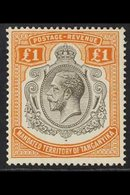 1927  £1 Brown Orange And Black, Geo V, SG 107, Fine Mint. For More Images, Please Visit Http://www.sandafayre.com/itemd - Tanganyika (...-1932)