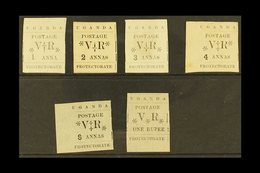 "1896  1a (thin ""1""), 2a To 1r, SG 54, 56/60, Fresh Unused. (6 Stamps) For More Images, Please Visit Http://www.sandafayr - Kenya, Uganda & Tanganyika"
