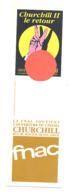 """Marque-pages Publicitaire  -  La FNAC Soutient L'ouverture Du Cinéma """" CHURCHILL II """" à Liège   (b260/4) - Marque-Pages"""