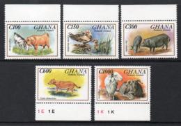 Ghana 1537/41 Chèvres , Mouton , Canards , Cochon Porc , Chien - Ferme