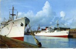 BATEAUX COMMERCE  FORT RICHELIEU  Bananiers Dans Le Port De Dieppe.  TBE - Comercio