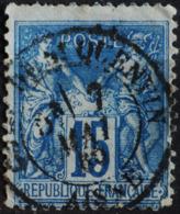 -Sage N°90 Type Ll. O .(CAD ) GARE DE St QUENTIN 7 MAI 1880 - 1876-1898 Sage (Type II)
