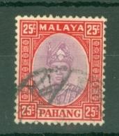 Malaya - Pahang: 1935/41   Sultan Abu Bakar    SG40     25c    Used - Pahang