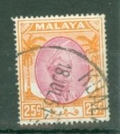 Malaya - Pahang: 1950/56   Sultan Abu Bakar    SG66     25c       Used - Pahang