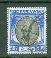 Malaya - Pahang: 1950/56   Sultan Abu Bakar    SG70     50c       Used - Pahang