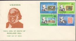 Ref. 398976 * NEW *  - UGANDA . 1979. CENTENARY OF ROWLAND HILL'S DEATH. CENTENARIO DE LA MUERTE DE ROWLAND HILL - Uganda (1962-...)