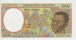 Central African States 1000 Francs 2002 Pick 102Cg UNC Congo - Centraal-Afrikaanse Staten