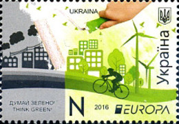 Ref. 360252 * NEW *  - UKRAINE . 2016. EUROPA CEPT 2016 - ECOLOGIA EN EUROPA - PIENSA EN VERDE - Ucraina
