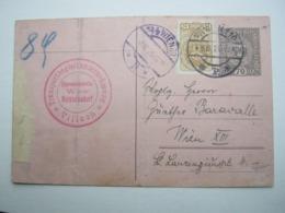 1920 , Rohrpostkarte Aus Wien - Briefe U. Dokumente