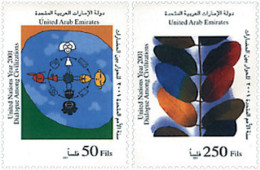 Ref. 88061 * NEW *  - UNITED ARAB EMIRATES . 2001. YEAR OF DIALOGUE AMONG CIVILIZATIONS. A�O INTERNACIONAL DEL DIALOGO E - Emiratos Árabes Unidos