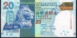 HONG-KONG P212a 20 DOLLARS 1.1.2010 FIRST DATE   #AL     UNC. - Hong Kong