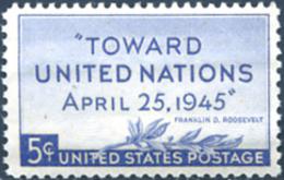 Ref. 248502 * NEW *  - UNITED STATES . 1945. U.N. CONFERENCE IN SAN FRANCISCO. CONFERENCIA DE LAS NACIONES UNIDAS EN SAN - Neufs