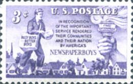 Ref. 161545 * NEW *  - UNITED STATES . 1952. REPARTIDORES DE PERIODICOS - Neufs