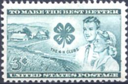 Ref. 161533 * NEW *  - UNITED STATES . 1952. CINQUENTENARIO DE LOS 4-H CLUBS - Neufs