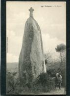 CPA - TREGUNC - Le Menhir, Animé - Trégunc