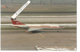 PHOTO AVION TUPOLEV 134 INTERFLUG DDR-SCS 1987  ZURICH  12X8CM - Aviazione
