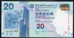 HONG-KONG P341a 20 DOLLARS 1.1.2010 FIRST DATE     #BQ    UNC. - Hong Kong