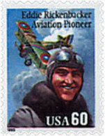 Ref. 86896 * NEW *  - UNITED STATES . 1995. AVIATION PIONEERS. Eddie Rickenbacker. PIONEROS DE LA AVIACION. Eddie Ricken - Neufs