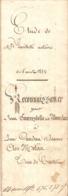 Vieux Papier Du Béarn, Castet En Ossau, 1852, Paiement De La Dot D'Anne Candau-Milaa à Dominique Courrestolle Mourlanne - Historische Documenten
