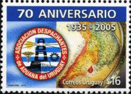 Ref. 189210 * NEW *  - URUGUAY . 2005. 70TH ANNIVERSARY OF THE ASSOCIATION OF DUANA AGENTS IN URUGUAY. 70 ANIVERSARIO D - Uruguay