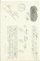 """DECLARATION DE TRANPORT DE MARCHANDISE PAR NAVIRE """" BAYONNAISE """" 1842 - Boats"""