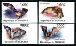 BURUNDI 2011** - Pipistrelli / Bats - 4 Val. MNH, Imperf. Come Da Scansione. - Bats