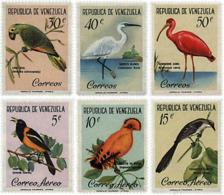Ref. 36012 * NEW *  - VENEZUELA . 1961. BIRDS. AVES - Venezuela