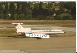 PHOTO AVION TUPOLEV 154 TAROM YR-TPA  1987     ZURICH    12X8CM - Aviazione