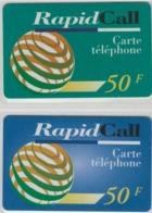 Lot De 2 Cartes Prépayées Différentes - RAPID CALL   -  Prépaid  - (valeur Et/ou Verso  Différent) - Andere Voorafbetaalde Kaarten