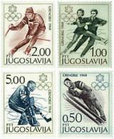 Ref. 71151 * NEW *  - YUGOSLAVIA . 1968. X OLYMPIC WINTER GAMES. GRENOBLE 1968. 10 JUEGOS OLIMPICOS  INVIERNO GRENOBLE 1 - Yugoslavia