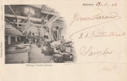 17/ Saintes : Interieur De La Fabrique D'acide Tartrique  Carte écrite En 1904 - Saintes