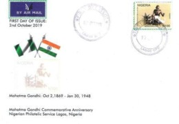 Nigeria  Philately:  `Mahatma Gandhi 150 Years Anniversary Issue/THE FDC - Other