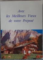 Petit Calendrier De Poche  1971 Avec Les Meilleurs Voeux De Votre Préposé - Montagne Chalet Vaches - Petit Format : 1971-80
